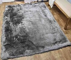 Glitter Shag Shaggy Furry Fluffy Fuzzy Sparkle Soft Modern Contemporary Thick Plush Soft Pile Silver Grey Gray Two Tone Area Rug Carpet Bedroom Living Room Sale Discount ( Harmony Silver Gray ) For Sale Beige Carpet, Patterned Carpet, Modern Carpet, Yellow Carpet, Plush Carpet, Diy Carpet, Rugs On Carpet, Cheap Carpet, Stair Carpet