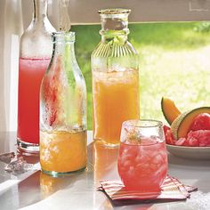 Make this one every summer!  Watermelon is super easy and kids love it.  Cataloupe can be very 'pulpy' and hit or miss.