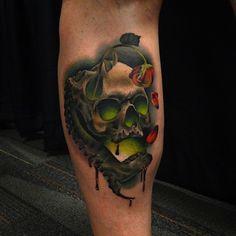 Andres Acosta's work never ceases to amaze. #InkedMagazine #skull #tattoo #tattoos #inked #art