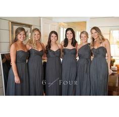 charcoal bridesmaid dresses
