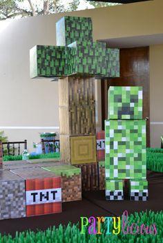 Photo 28 of Minecraft Birthday Party / Birthday & Birthday& Minecraft Birthday Decorations, Minecraft Birthday Party, Birthday Parties, Birthday Ideas, 7th Birthday, Birthday Games, Happy Birthday, Mine Craft Party, Minecraft Room