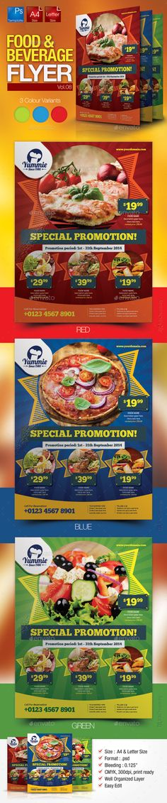 Restaurant Flyer Template #design foodflyer Download: http://graphicriver.net/item/restaurant-flyer-vol8/11420797?ref=ksioks