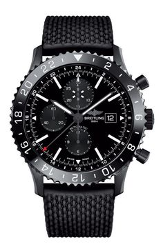 Breitling Chronoliner steel and ceramic automatic chronograph watch Breitling Superocean Heritage, Breitling Navitimer, Breitling Watches, Dream Watches, Cool Watches, Men's Watches, Wrist Watches, Rolex, Herren Chronograph