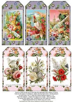 Floral Illustrations Perfume Labels on Craftsuprint designed by Pauline Black - The tags measure 2.4 x 4.8 inches and they can be used in various paper craft projects including as embellishments for the front of a card. You can punch a hole in the tags at the top adding ribbon etc. For decorating cards, easy instructions are included on the Collage Sheet. Recipients will enjoy the card as a keepsake or can optionally use the tags for gifts they will give to others. - Now available for…