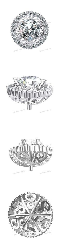 Other Jewelry Settings 12520: 14K White Gold 4.00 Ct D Vvs1 Cluster Peg Setting Findings Mother S Day Gift -> BUY IT NOW ONLY: $499.98 on eBay!