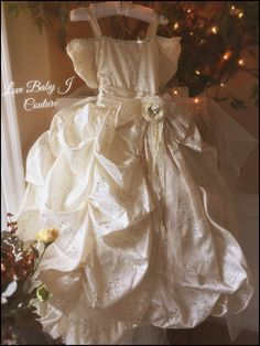 """""""It's Not Easy Being A Princess""""... An Elegant Embroidered Taffeta Gown"""