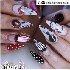 Disney Acrylic Nails, Summer Acrylic Nails, Acrylic Nail Designs, Disney Nails Art, Disney Halloween Nails, Girls Nail Designs, Holiday Nail Designs, Holiday Nails, Art Designs