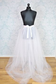Detachable Tulle SkirtBridal OverskirtTulle by TutuShopUK on Etsy