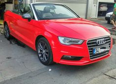 Audi A3 cabrio parlak kardinal kirmizi folyo kaplandi. (0212) 286 48 43  www.autovizyon.com