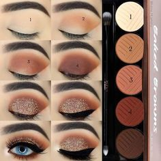 Natural Eyeshadow, Red Eyeshadow, How To Apply Eyeshadow, Colorful Eyeshadow, Colorful Makeup, Eyeshadow Palette, Natural Makeup, Easy Eyeshadow, Beginner Eyeshadow