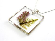 Heather and Moss Pendant