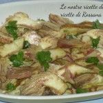 Carpaccio di carciofi crudi, pronto in 5 minuti Antipasto, Potato Salad, Cooker, Potatoes, Meat, Chicken, Ethnic Recipes, Food, Vegetables