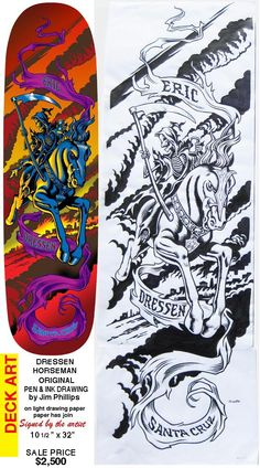 #Jim Phillips skateboard art works