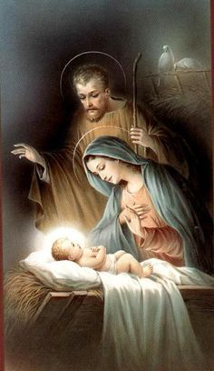 Christmas Scenery, Christmas Nativity Scene, Christmas Images, Catholic Pictures, Pictures Of Jesus Christ, Catholic Art, Religious Art, Religious Paintings, Image Jesus