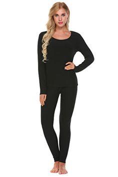 727b0ffb5fc Goldenfox Women s Cotton Thermal Underwear Long Johns Winter Set Fleece  Lined S-XXXL