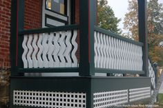 Really like the railings on this small front porch. Found on PorchIdeas.com #porch