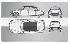 Vintage Citroen DS Classic car limited edition print. #vintage cars #retro #limited edition #prints | www.freireprintz.co.uk