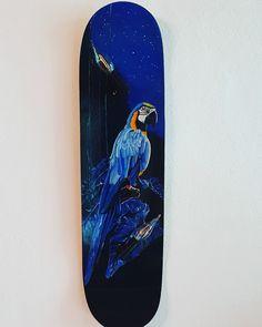 Blauer Ara Skateboard Lampe Skateboard Lampe, Surfboard, Painting, Art, Artworks, Art Background, Painting Art, Paintings, Kunst