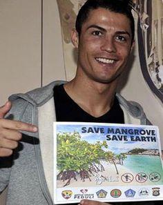 Cristiano Ronaldo, nuevo embajador de los manglares en Indonesia