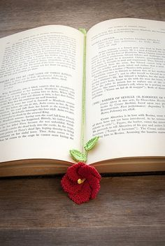 `Crochet bookmark idea IDEA: make string longer so it loops around book & connects at top. - AT