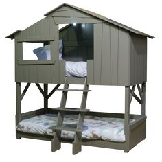 Childrens Treehouse Bunk Bed