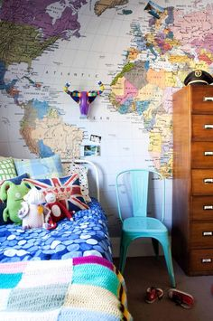 Map wall my mom did this when we were little kiddo room map wall my mom did this when we were little kiddo room pinterest wall maps walls and room gumiabroncs Image collections