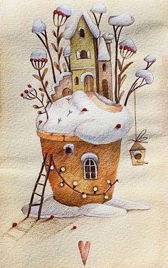 "776 Me gusta, 39 comentarios - Tonia Tkach (@tonia_tkach) en Instagram: ""Поскорее хочу снег, санки, печь пряники и думать только о хорошем)"""