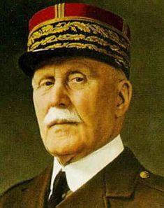 Mariscal Petain, general y político francés, jefe de Estado de la Francia de Vichy.