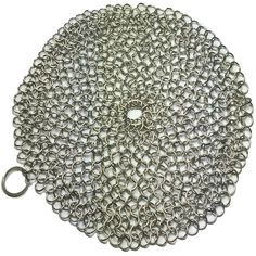 The BEST Chainmail Scrubber for Cast Iron Cookware http://www.amazon.com/Skillet-Skrunchie-Chainmail-Scrubber-Stainless/dp/B00WAOV2TW