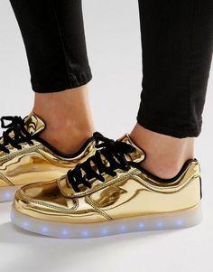 eb81100ac0f5 Metallic Sneakers, Women's Sneakers, Metallic Gold Shoes, Sneakers N Stuff,  Sneakers Fashion