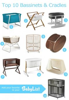 Top 10 Bassinets 2013 featuring the @babyletto Bowery Bassinet