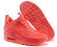 Grande Gros Best Nike Air Max 90 High Cut Pour La Vente Rouge Chaussures Femmes au Magasin en Ligne