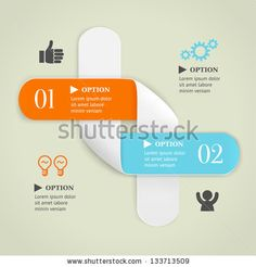 Colored bended lines with numbers on olive background. Trendy origami style options banner. Can be used for numbered options, web design, infographics. - stock vector