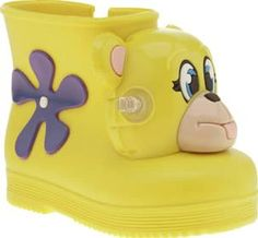 Melissa Yellow Jeremy Scott Monkey Girls Toddler Fashion maverick Jeremy Scott lends his fun and vibrant design aesthetics to Melissa to create the Monkey Boot. The kids shoe arrives in sweet-smelling yellow rubber, complete with a quirky monkey hea http://www.comparestoreprices.co.uk/january-2017-8/melissa-yellow-jeremy-scott-monkey-girls-toddler.asp