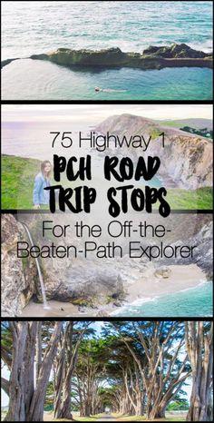 75 Pacific Coast Highway Road Trip Stops for the Off-the-Beaten-Path Explorer Pacific Coast Highway, Highway Road, West Coast Road Trip, Road Trip Usa, Road Trip Packing, Road Trip Essentials, Road Trip Hacks, Visit California, California Coast