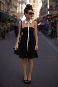 el vestido <3  Vero Moda Dress (via ASOS), Zara Mini Bowler Bag, ASOS Platform Peeptoes & Grey Ant Sunglasses  (image: befrassy)