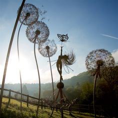 Robin Wights latest Fantasywire Fairy Sculpture at Trentham Gardens. Anahi- a beautiful name for a beautiful fairy- you'll find her in the Dandelion Patch.