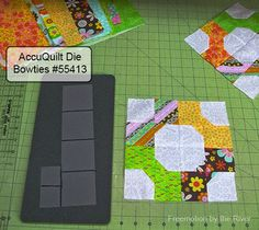 AccuQuilt Bowtie die at Freemotion by the River