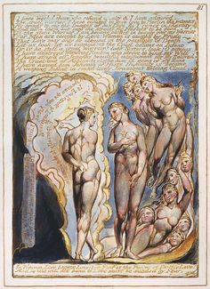 """William Blake: """"Jerusalem The Emanation of The Giant Albion"""", object 81, copy E, c. 1821"""