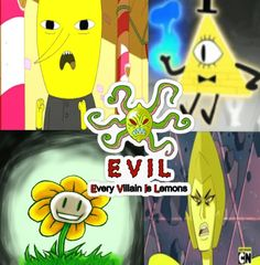 Yellow is Evil... and my favorite color- wonder what that says about me xD