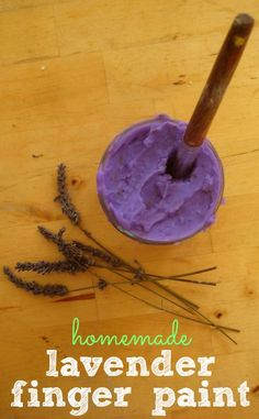 This homemade lavender finger paint recipe is very easy to make and it offers a super sensory play time – great for chilled-out children!