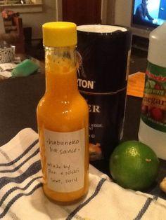 Home made habanero salsa recipe. Sounds a lot like Melinda's. Habanero Recipes, Habanero Sauce, Hot Sauce Recipes, Chili Sauce, Mango Sauce, Thick Hot Sauce Recipe, Salsa Dulce, Salsa Picante, Chile