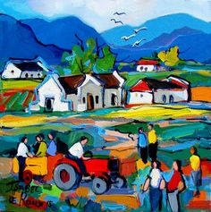 Artwork of Isabel le Roux exhibited at Robertson Art Gallery. Original art of more than 60 top South African Artists - Since South African Artists, Dream Art, Naive Art, Whimsical Art, New Artists, Worship, Watercolor Art, Original Art, Art Gallery