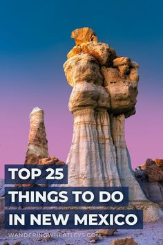 Planning a New Mexico vacation? Discover the 25 Top Things To Do in New Mexico including awesome attractions in New Mexico, dreamy places to visit, top New Mexico hikes, and more! I what to do in New Mexico I places to go in New Mexico I USA travel I places to hike in New Mexico I New Mexico attractions I New Mexico parks I activities in New Mexico I things to do in Albuquerque I parks in New Mexico I adventures in New Mexico I things to do Santa Fe I New Mexico museums I #USA #NewMexico