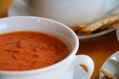 Chunky Tomato Soup with Saffron