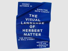 The visual language of Herbert Matter.