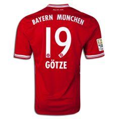 Men's 2013/14 FC Bayern Munich Mario Götze Soccer Jersey  Price: $55.00