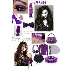 Demi lovato- purple.