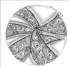 Afbeeldingsresultaat voor zentangle patterns step by step Mandala Pattern, Zentangle Patterns, Zentangles, Cool Doodles, Pattern Drawing, Doodle Art, Tangled, Adult Coloring, Dream Catcher
