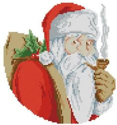 Advanced Embroidery Designs - Santa with Pipe